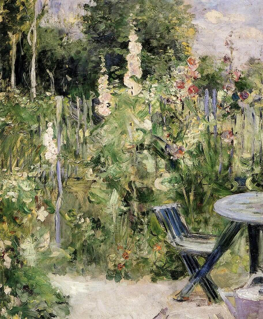 «Rose trémières» par Berthe Morisot